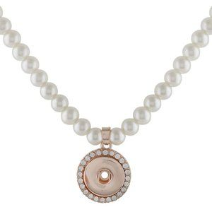 Jewelry - New Bridal Pearl Rose Gold Snap Jewelry Necklace